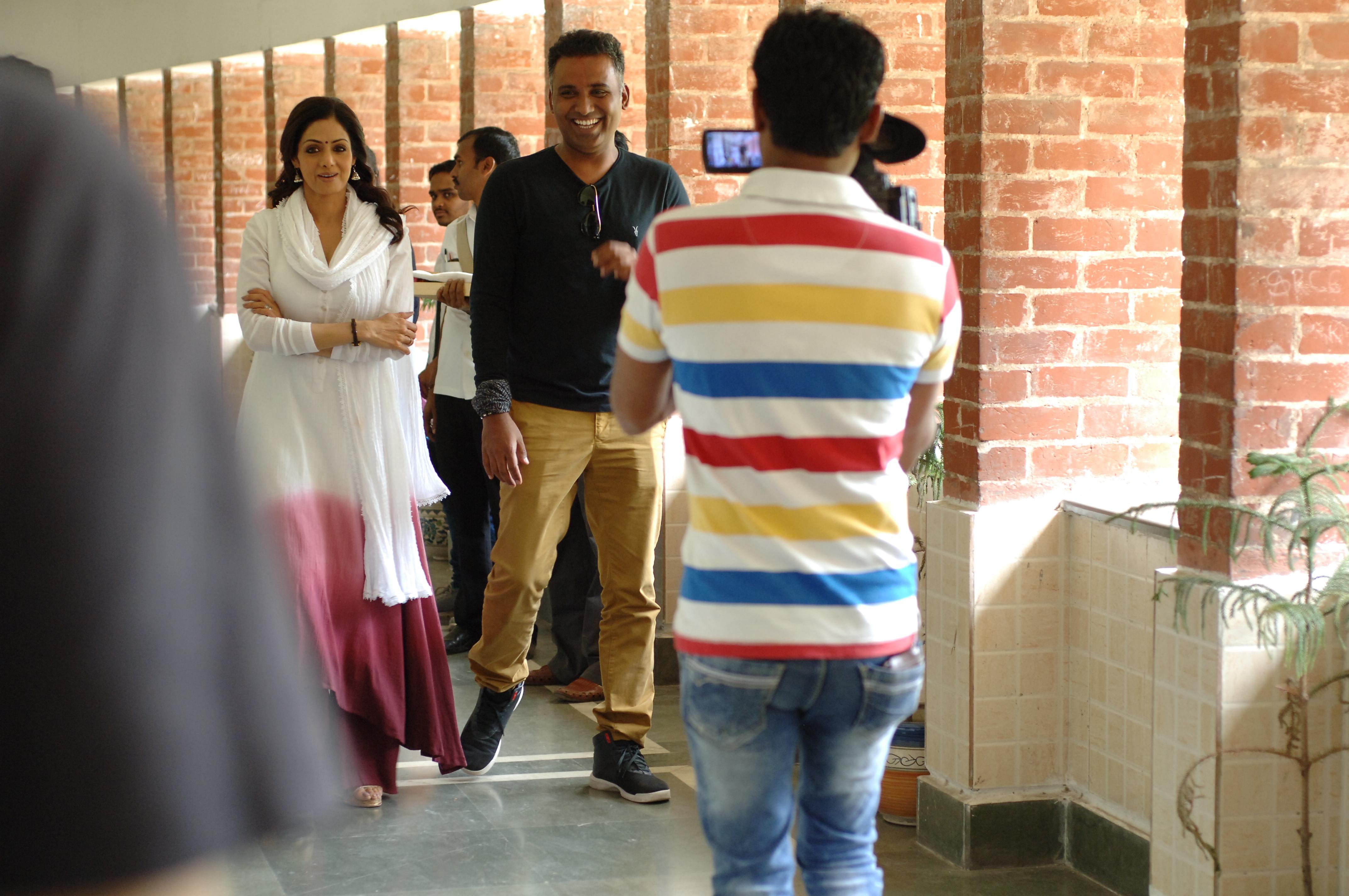 Ravi Udyawar with Sridevi during the shoot of 'Mom'.