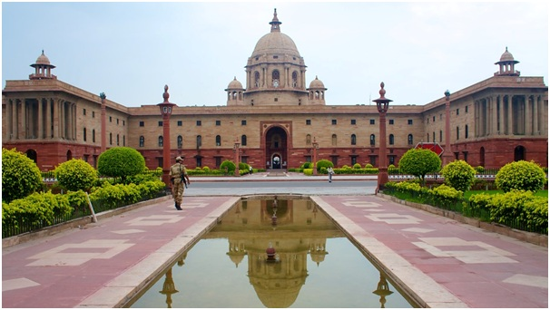 Rashtrapati Bhawan, the official residence of the President of India. Photo Courtesy: presidentofindia.nic.in