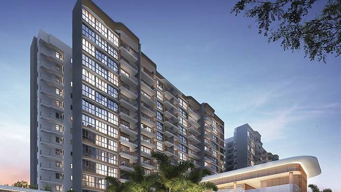Hundred Palms executive condominiums residences were sold at an average price of SGD836 psf (per square foot).