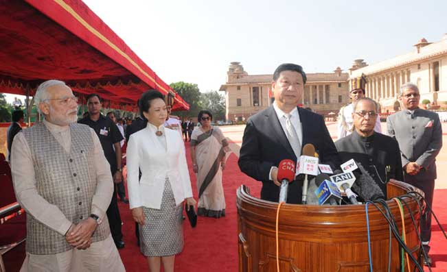 Chinese Premier Xi Jinping in India.