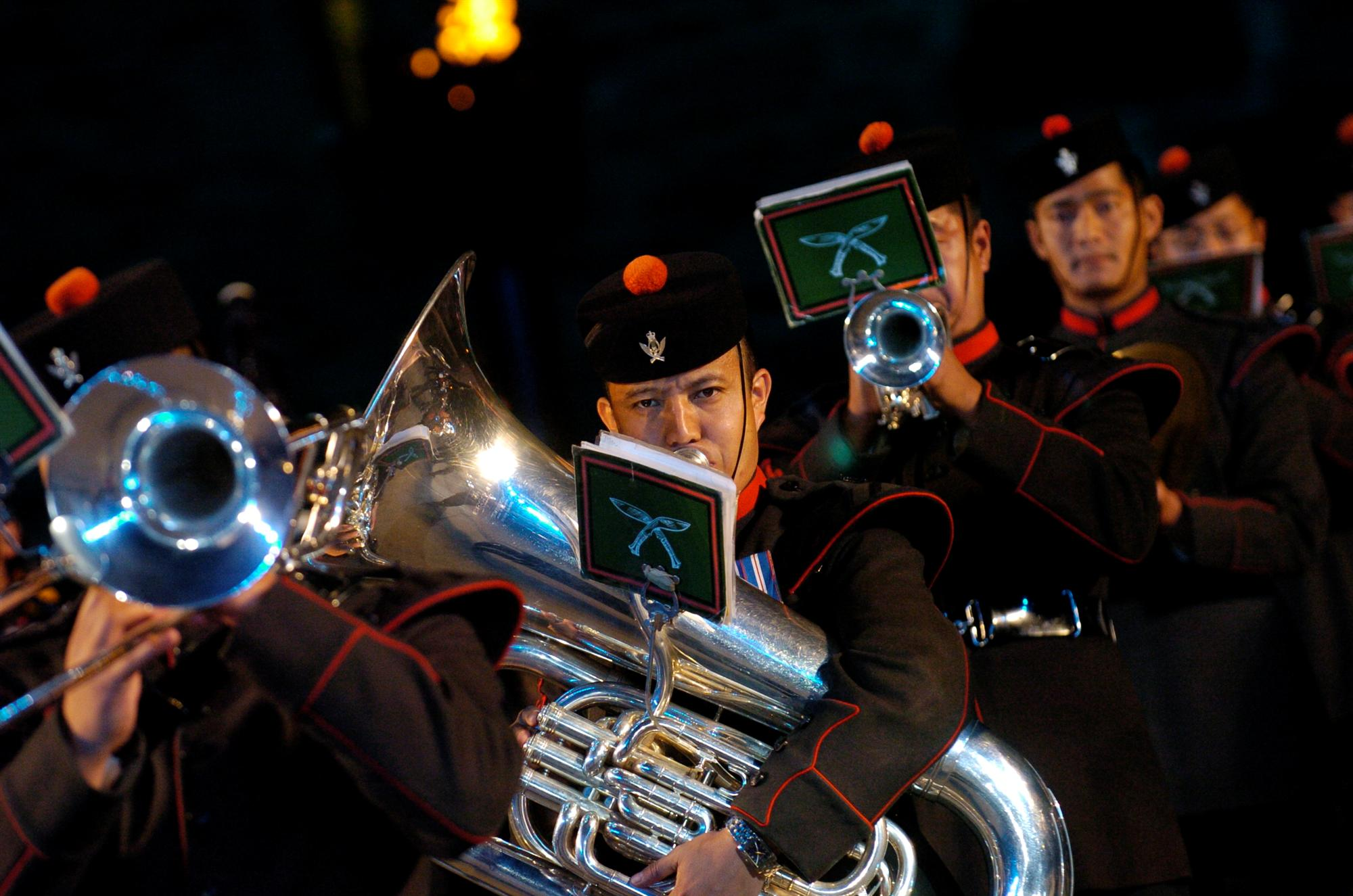 Band and Pipes and Drums of the Royal Gurkha Regiment. Photos Courtesy: The Royal Edinburgh Military Tattoo official website