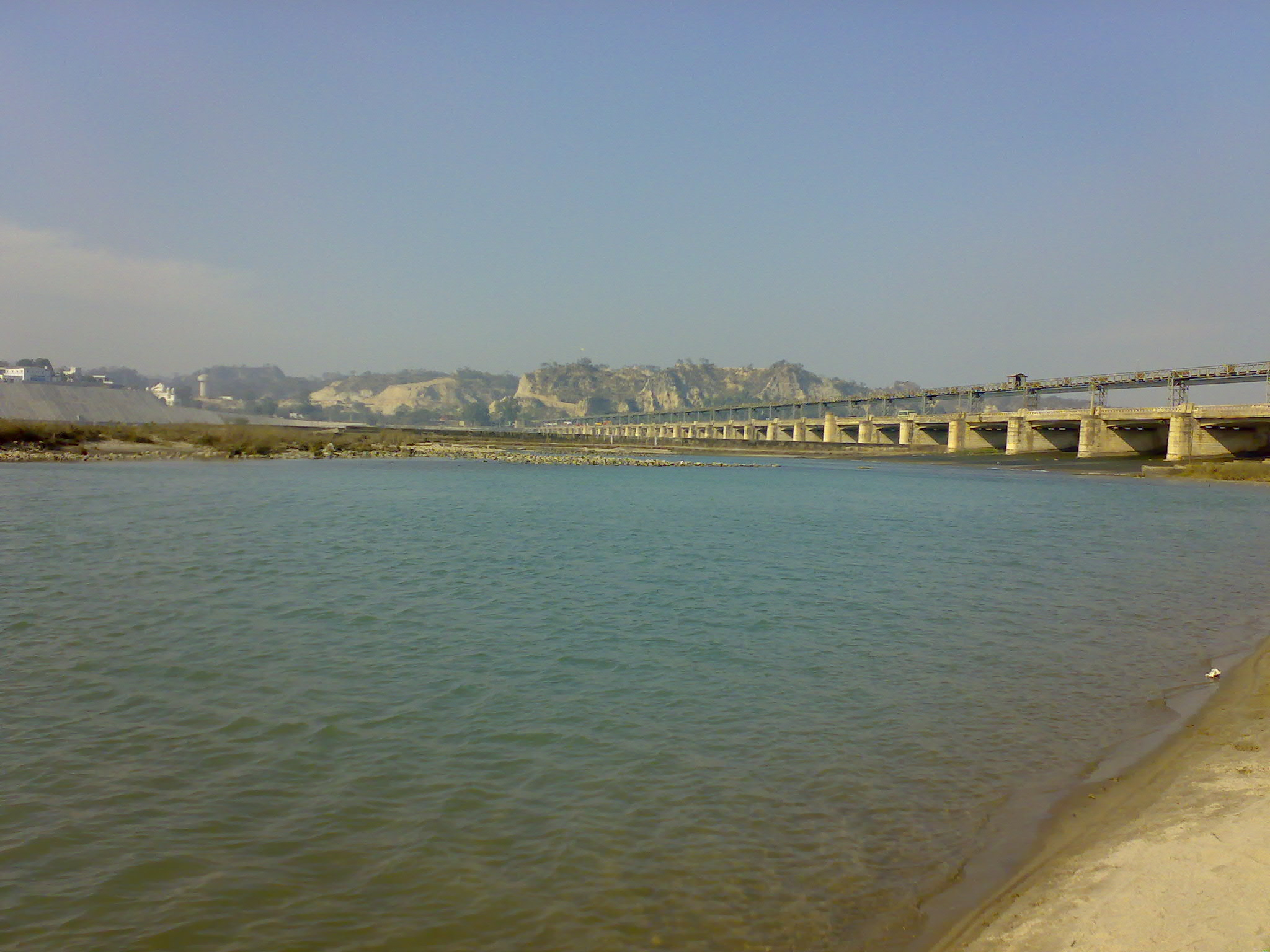 The Sutlej River.