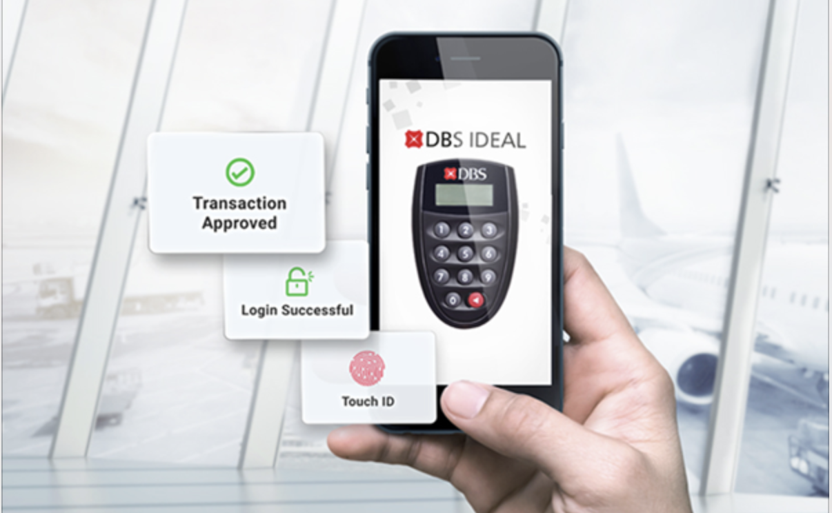 DBS digital token. Photo courtesy: DBS