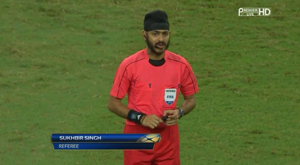 Singaporean Sikh referee Sukhbir Singh. Photo courtesy: Facebook
