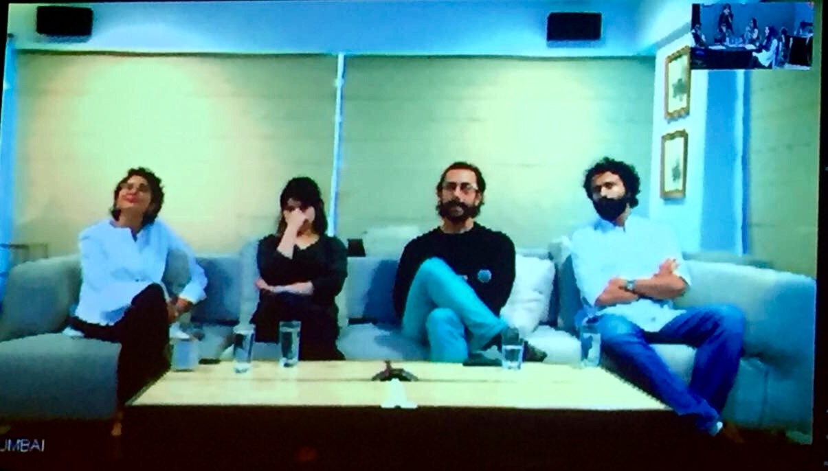 From Left to Right: Kiran Rao, Zaira Wasim, Aamir Khan and Advait Chandan Photo: Zee Studios