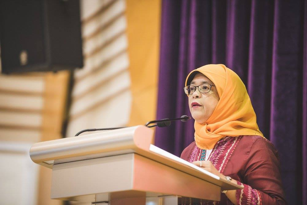 Speaker of Parliament Mdm Halimah Yacob. Photo courtesy: Facebook