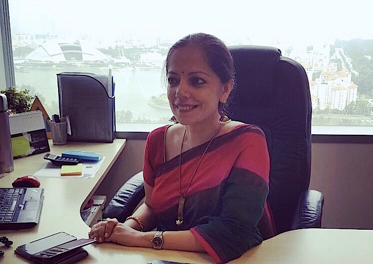 Tripta Singh, Executive Vice President at Zee TV APAC in her Suntec office Photo courtesy: Tripta Singh