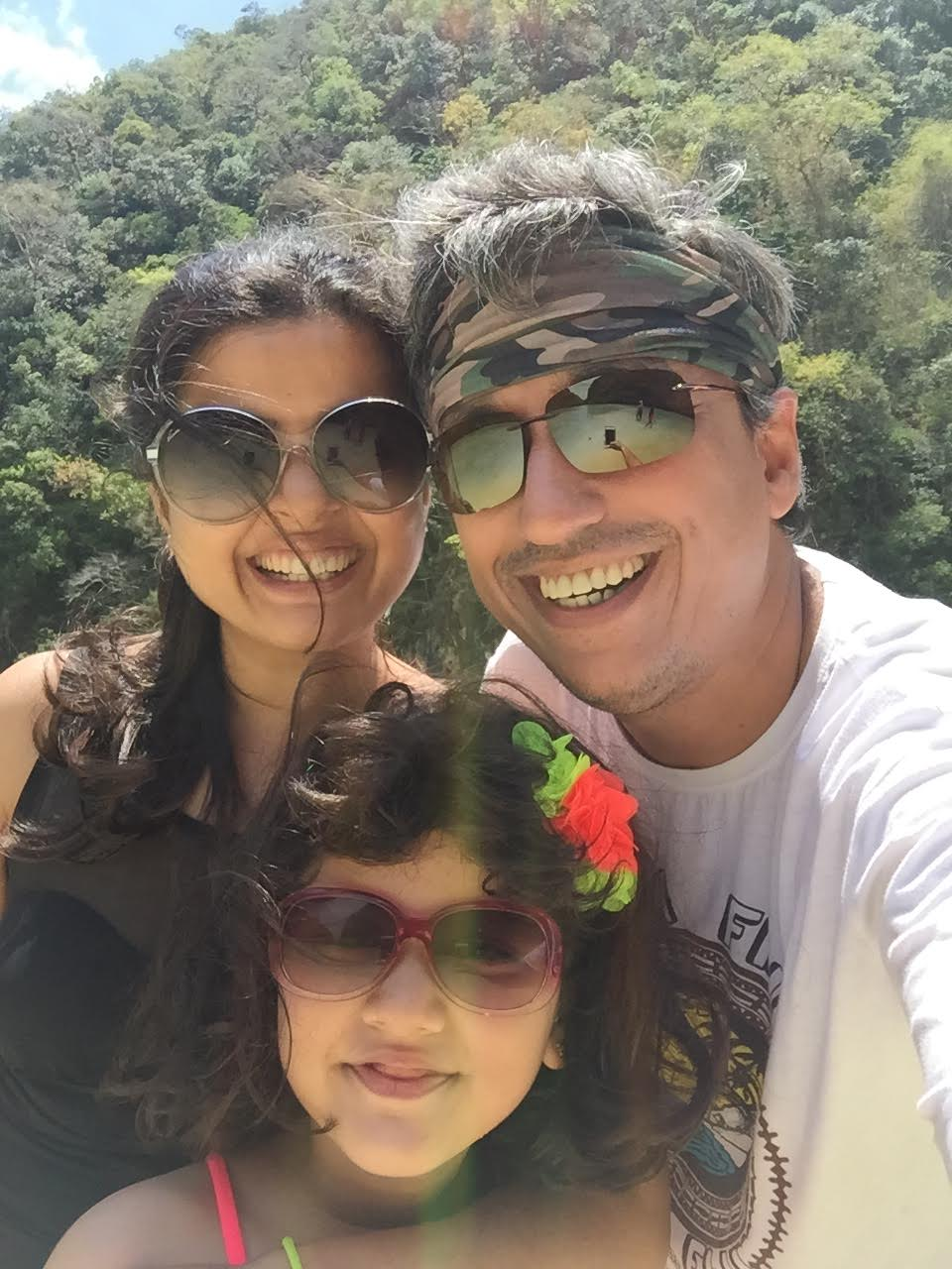 Punam Sharrma with her husband Mohit Singh and daughter Jia. Photo courtesy: Punam Sharrma