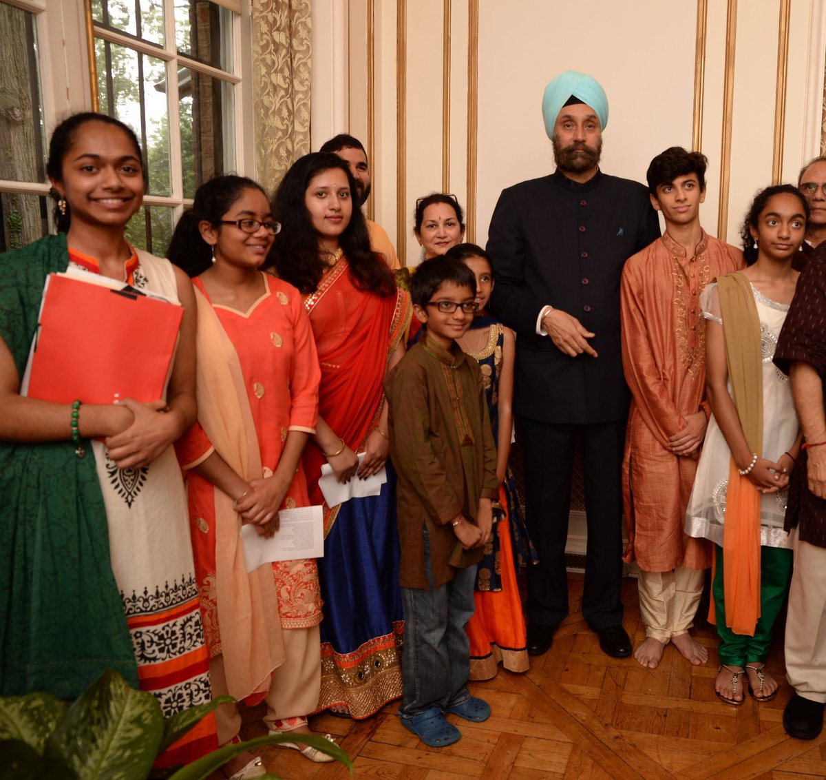 Indian Ambassador to the US Navtej Sarna celebrates Independence day with Indian diaspora in US.