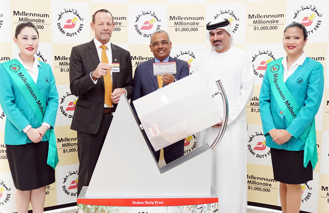 Dubai Duty Free Millennium Millionaire raffle draw took place at the Dubai International Airport.