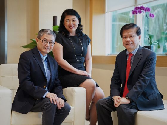 Prof Ling San, Ms Tan Aik Na and Prof Lam Khin Yong