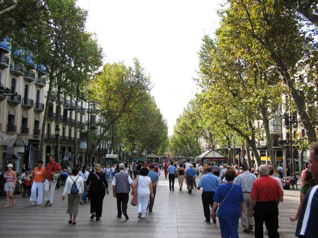 Barcelona's Las Ramblas is a popular tourist spot. Photo courtesy: Wikipedia