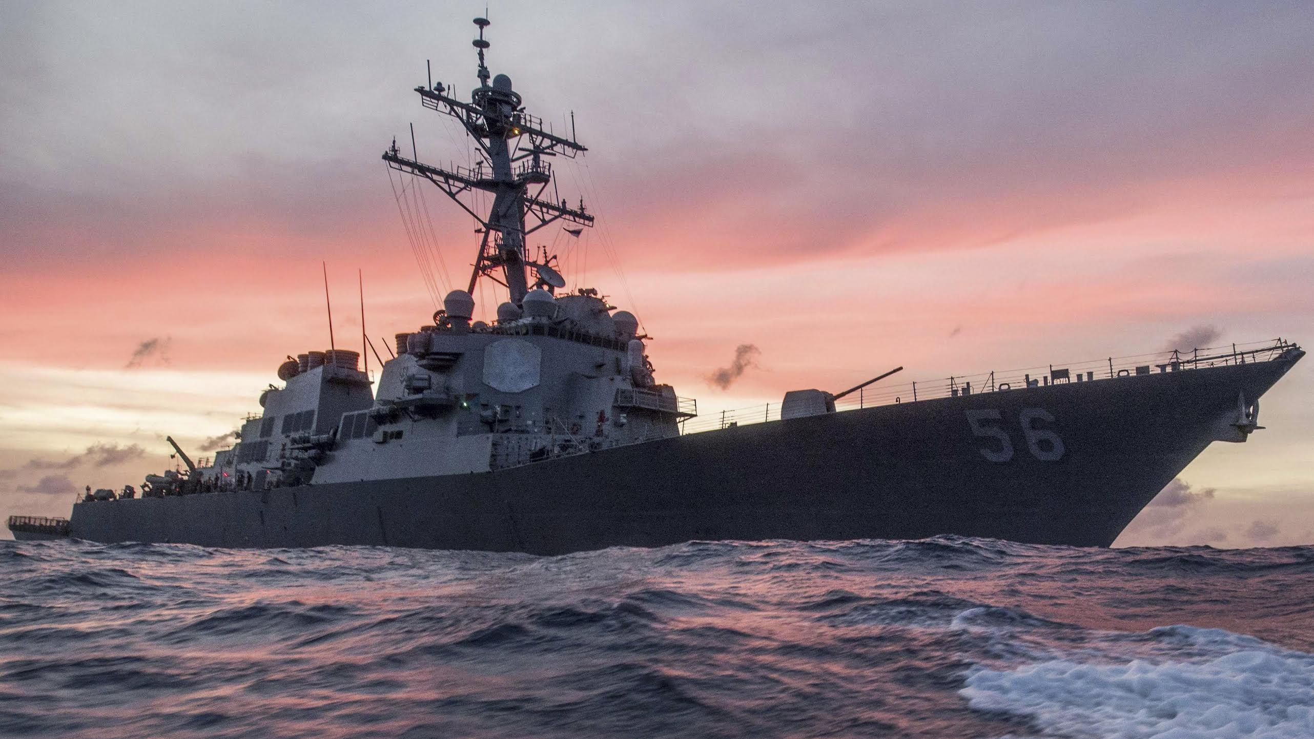 USS John S McCain. Photo courtesy: Petty Officer 3rd Class James Vazquez, US Navy 7th Fleet