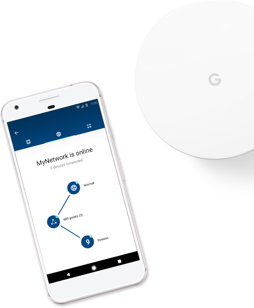 Google Wifi provides seamless coverage.