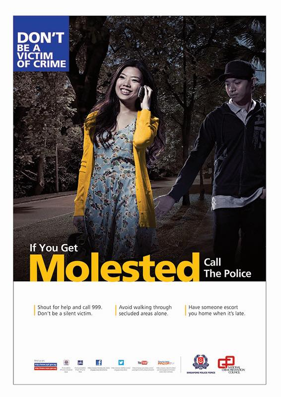 Anti-molestation poster