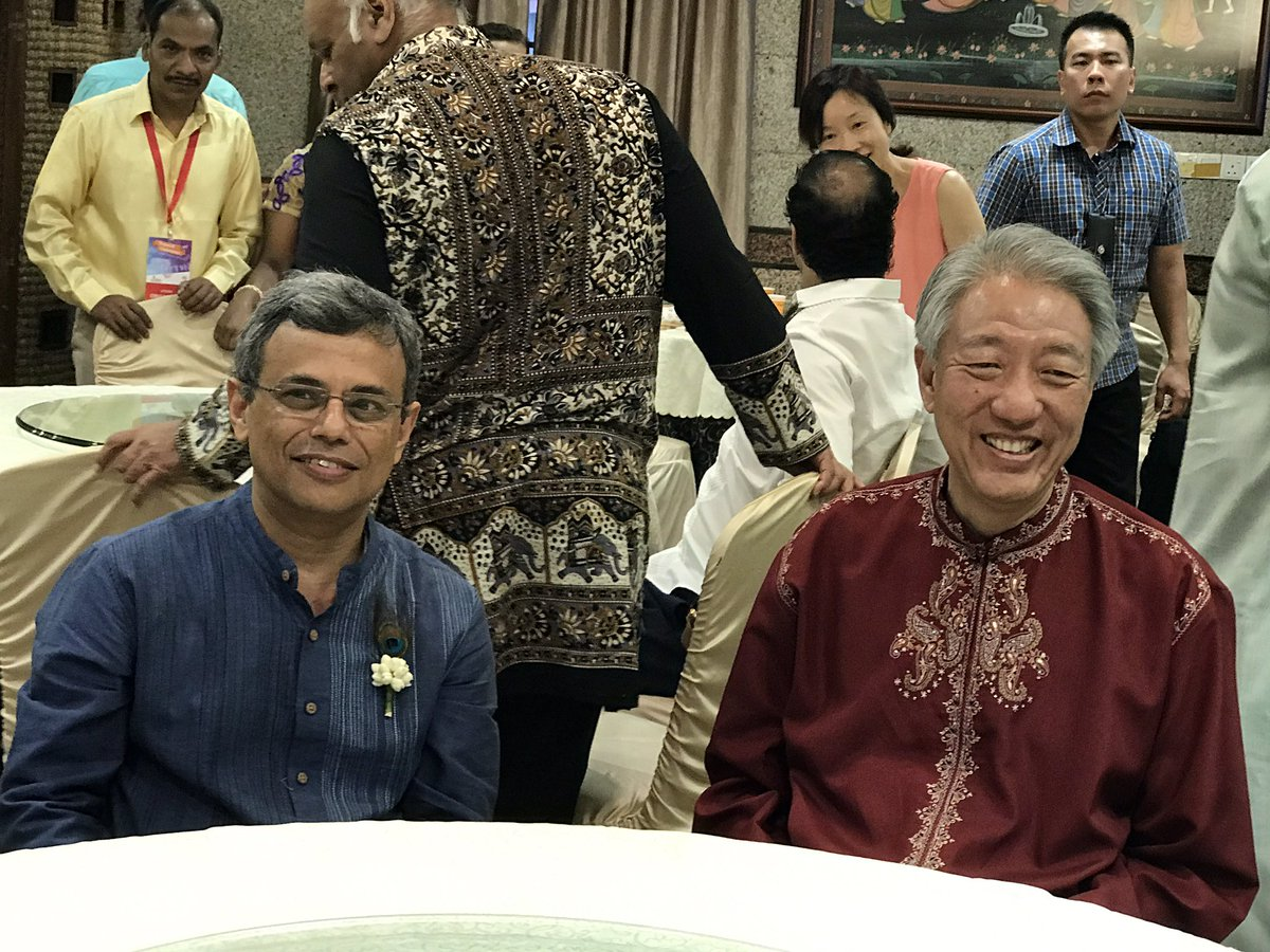 Singapore High Commissioner of India Jawed Ashraf (left) with Deputy Prime Minister Teo Chee Hean.