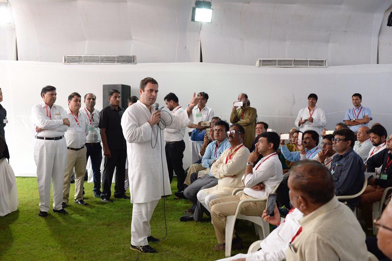 Rahul Gandhi in Ahmedabad.