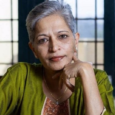 Gauri Lankesh, journalist and activist.