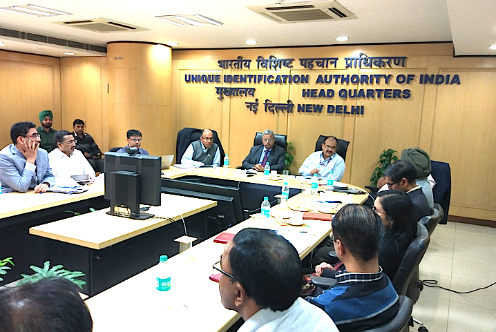 A UIDAI meeting in progress. Photo courtesy: UIDAI