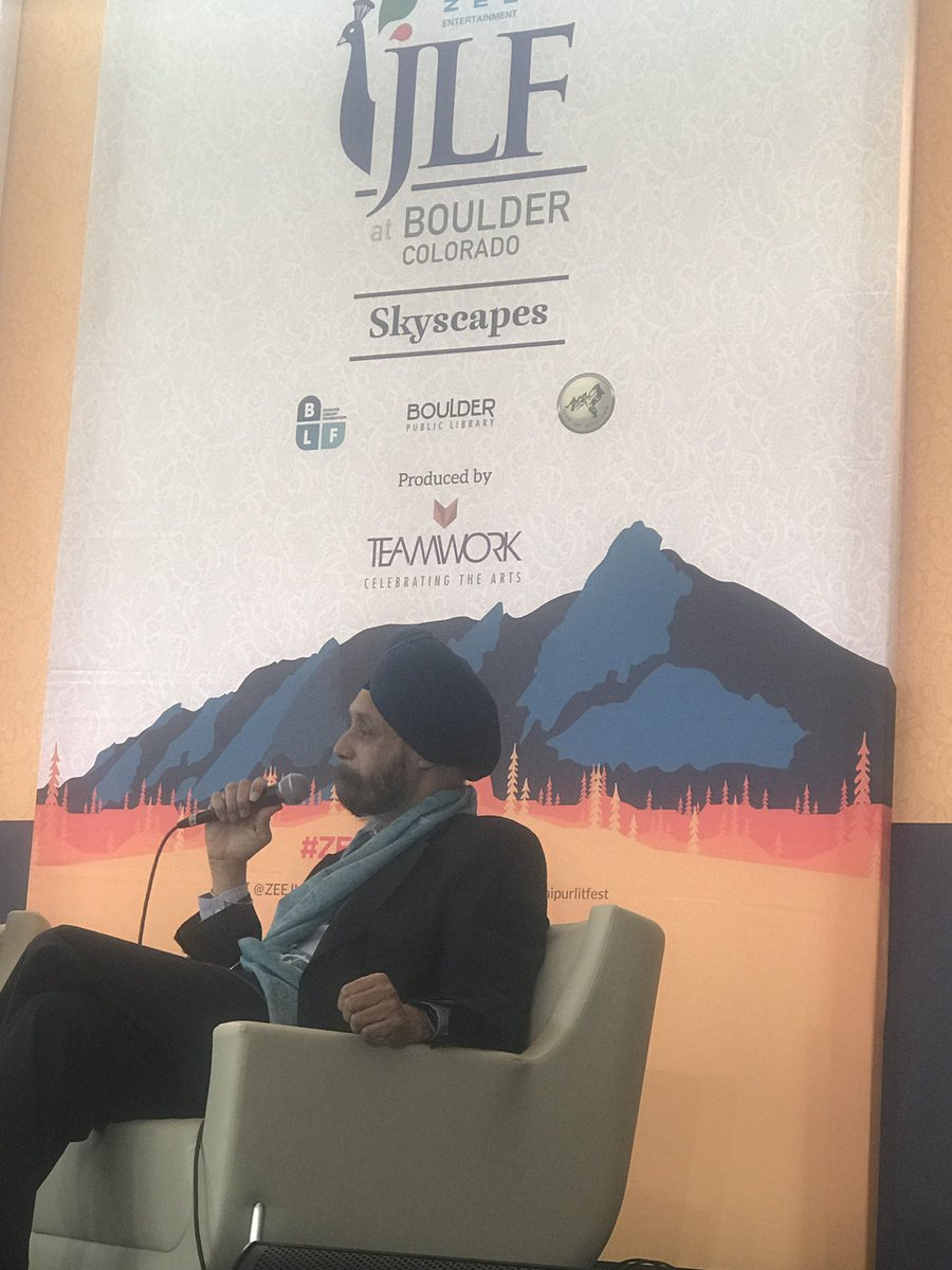 Indian Ambassador to the United States Navtej Sarna at ZEE JLF at Boulder.