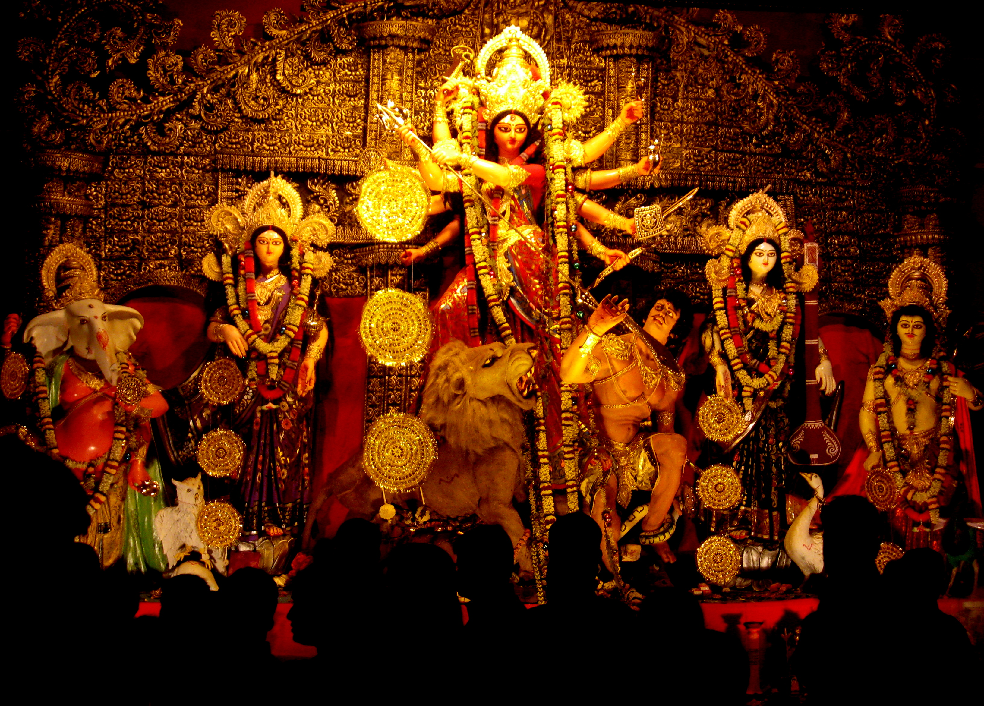 An idol of Goddess Durga.