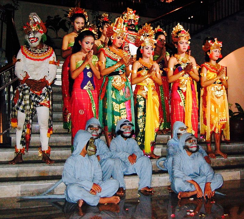 A Ramayana-based Ramlila dance troupe in Bali Indonesia.