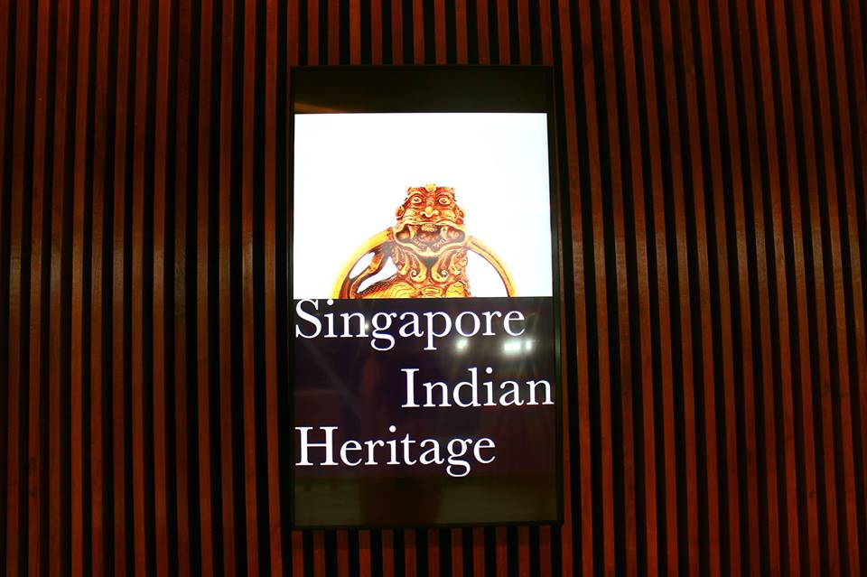 Cover of 'Singapore Indian Heritage' book.