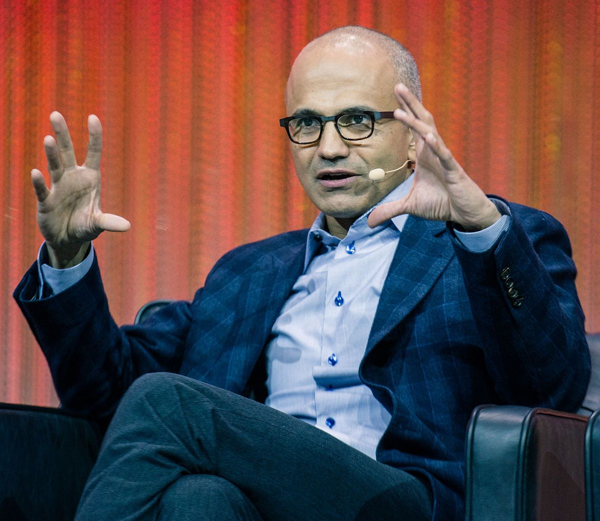 Microsoft's Indian-origin CEO Satya Nadella.