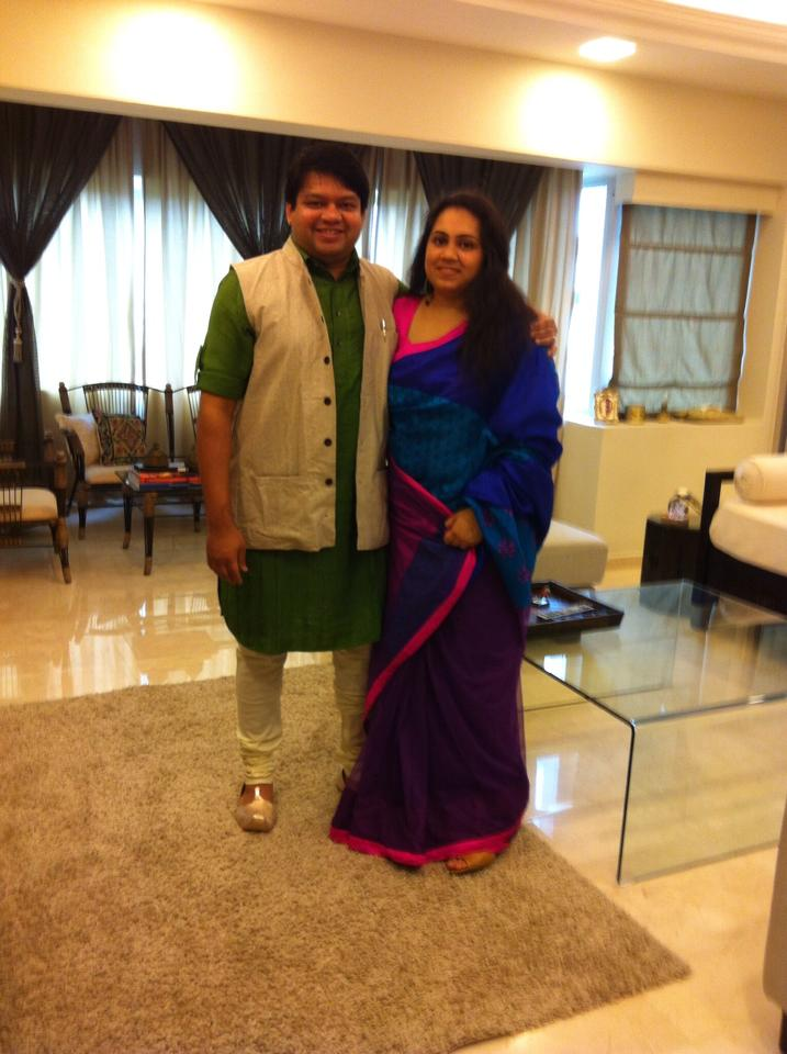 Mansi Maheshwari with her husband.