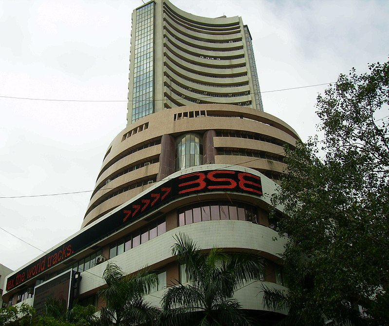 Bombay Stock Exchange in Mumbai.