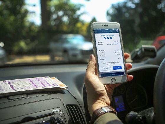Mobile app Parking.sg