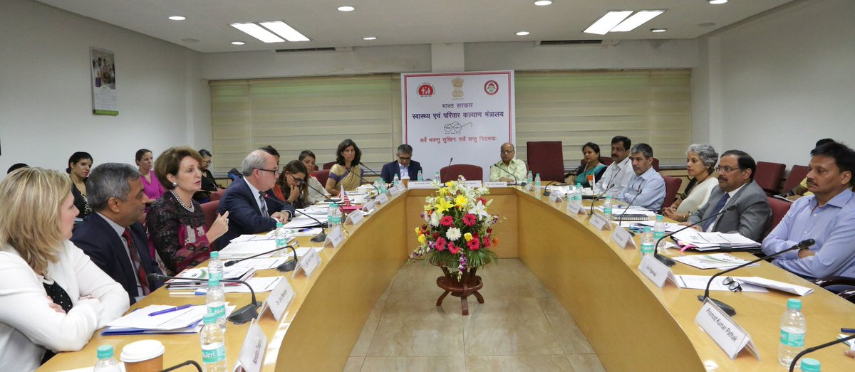 The second India-US Health Dialogue in progress in New Delhi.