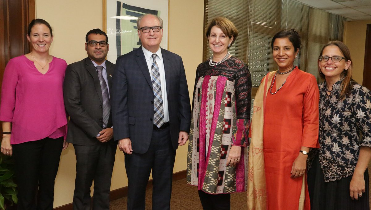US Charge D'Affaires Mary Kay Carlson with participants of 2nd India-US Health Dialogue held in New Delhi