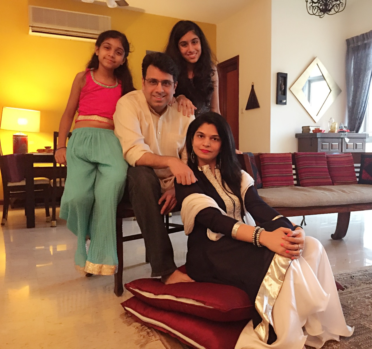 Shalima Motial with family.