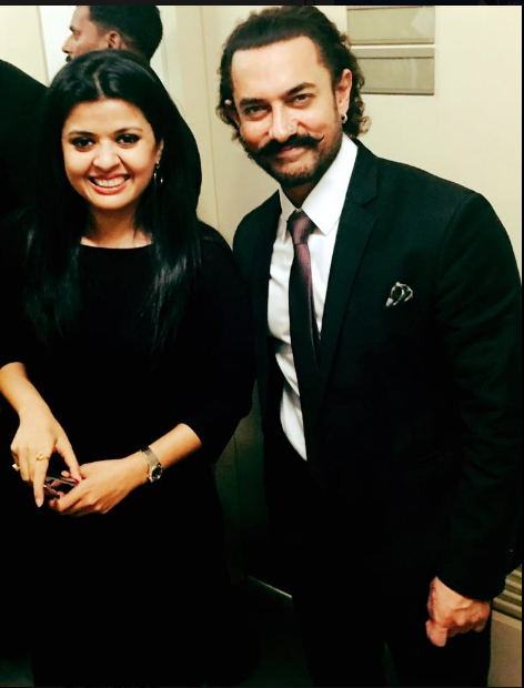 Punam Sharrma with super star Aamir Khan prior to the 'In Conversation' consumer event for Zee Studios