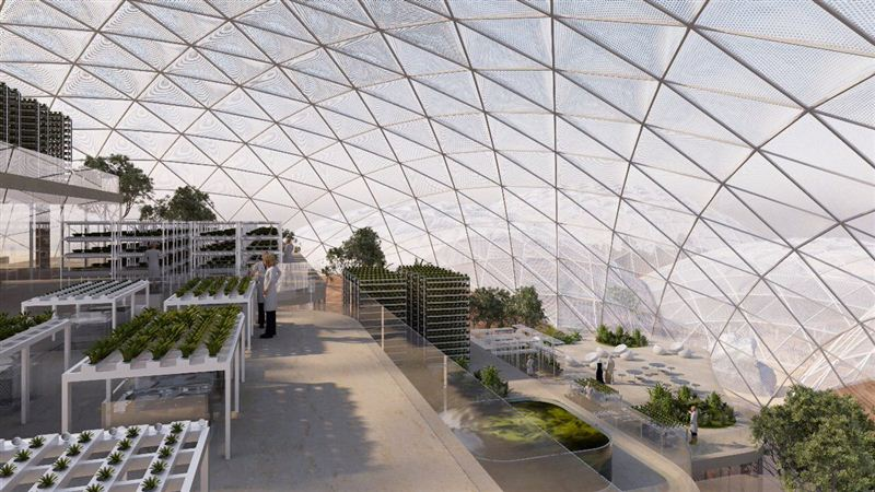 Mars Science City will have a giant greenhouse to test agricultural techniques,