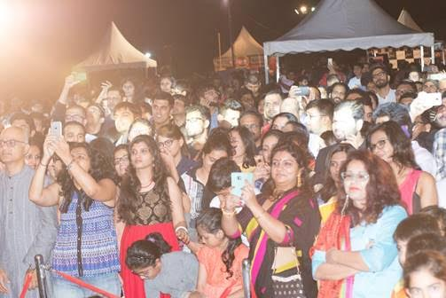 Audience enjoying the performance by Lucky Ali.