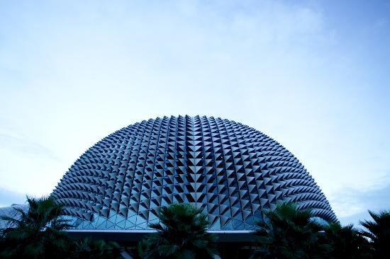 A roof side view of Esplanade - Theatres on the Bay.