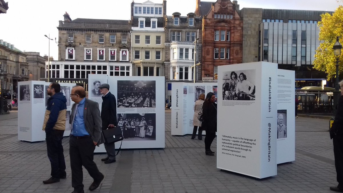 The photo exhibition in Edinburgh.