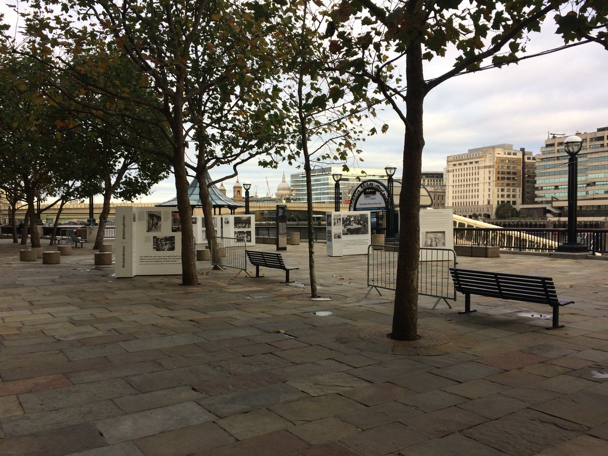 The exhibition set up at London Pier.
