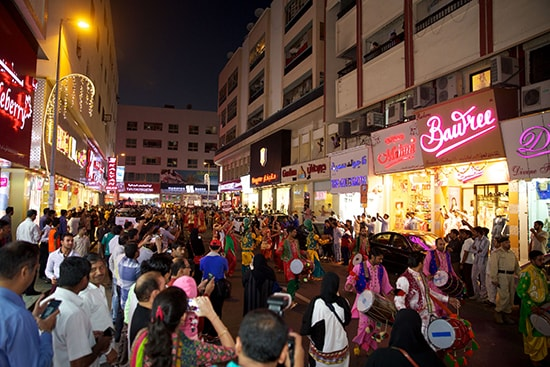 Meena Bazaar is the hub of Indian goods.