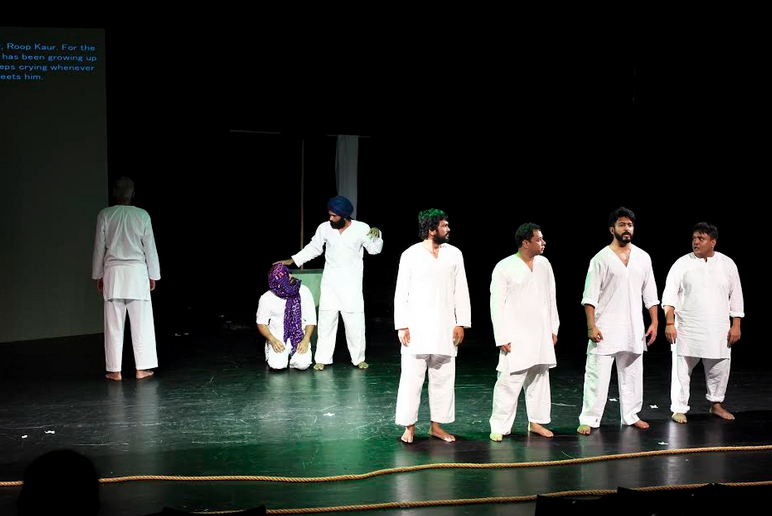 Artistes performing Toba Tek Singh, based on Saadat Hasan Manto's story, at Dastak 2016. Photo courtesy: Dastak