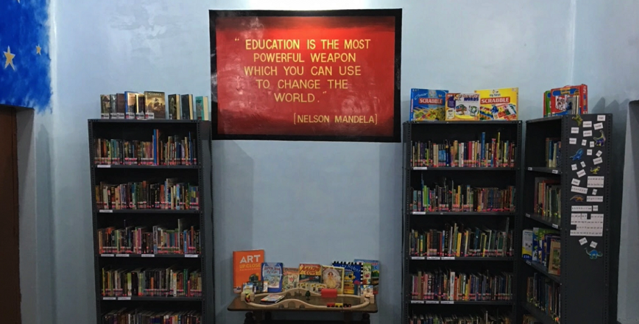 A library has been opened in the school to broaden the educational horizon of the children under 'Project Khwaish'.