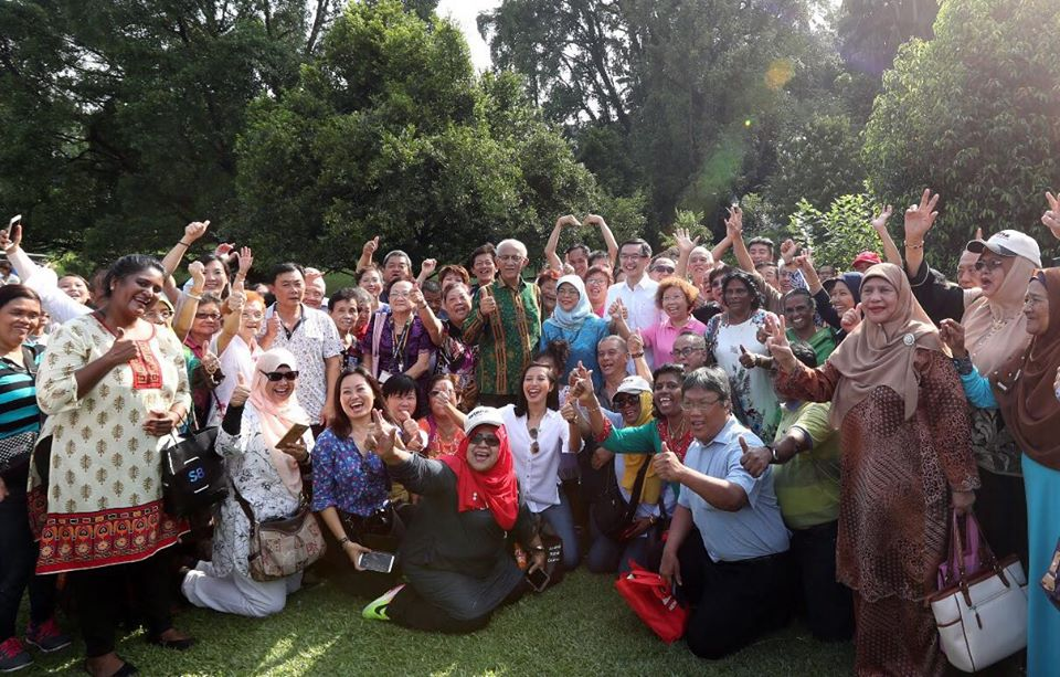 People in jubilant mood as they throng open house of Istana organised on the occasion of Deepavali.