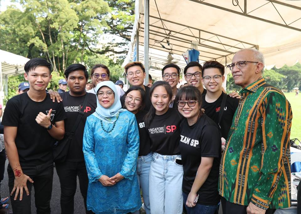 The students from Singapore Polytechnic volunteered as Open House tour guides for the seniors from the Society for WINGS.