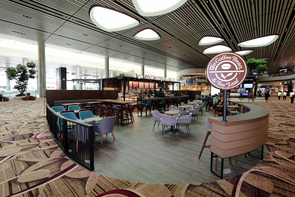 Dining outlets are ready to serve customers at the new T4 terminal at Changi Airport.