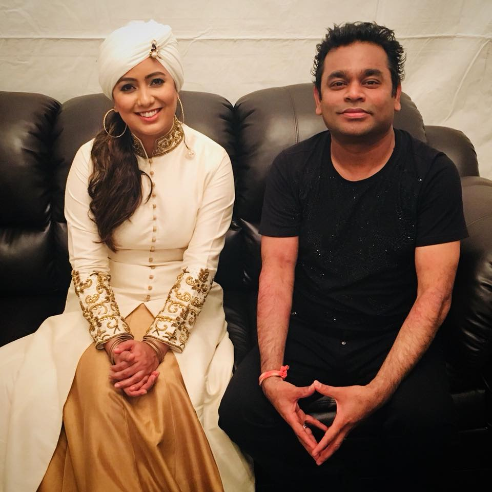Harshdeep Kaur with legendary AR Rahman