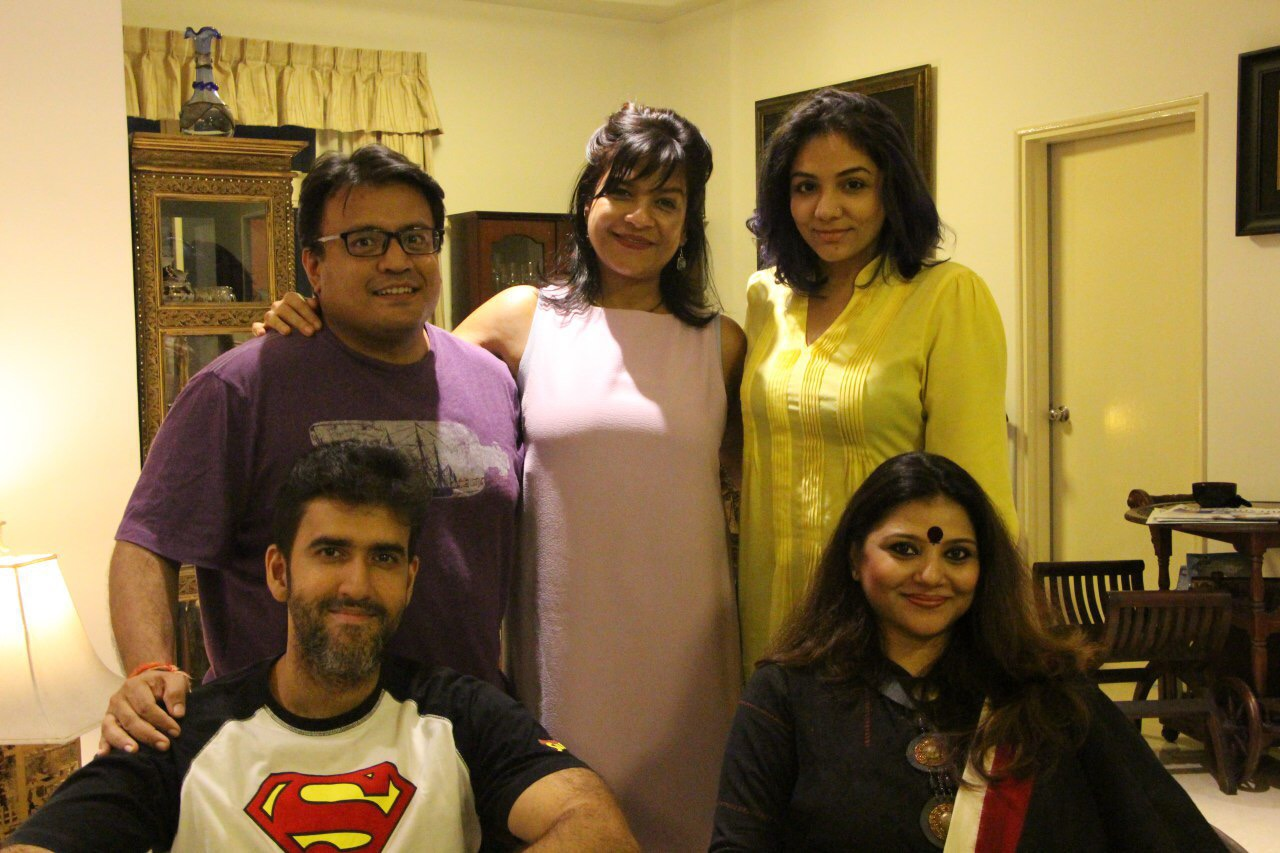 The cast and crew of Ardh Satya.
