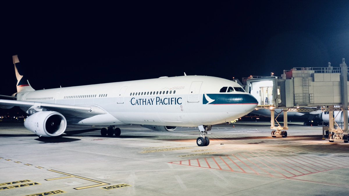 Cathay Pacific was the first airways to arrive at newly opened Terminal 4 of Changi Airport today.
