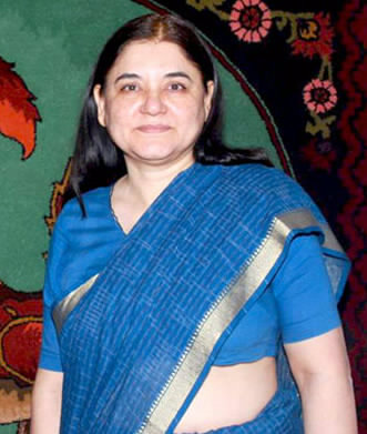 Indian Women and Child Development Minister Maneka Gandhi.